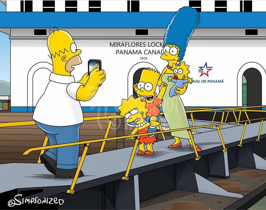 Bart-Simpson-Panama-Canal